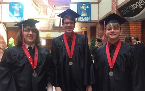 Graduates pose for final pictures as CA students