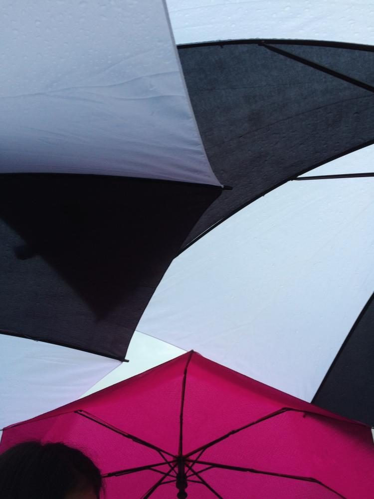 Happy Little Life: Standing underneath an umbrella during a rainstorm