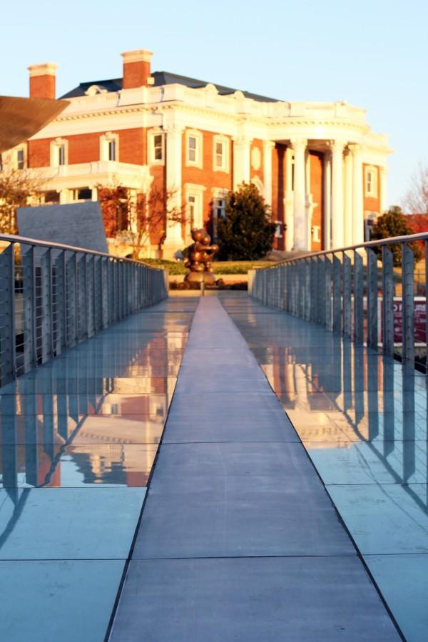 the Glass Bridge just before sunset