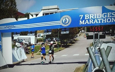 CA students race to the finish of the Seventh-day Adventist 7-Bridges Marathon
