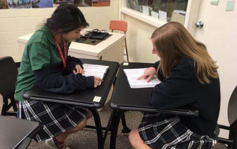 Seniors mentor lower classmen during Bible studies